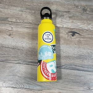 Hydroflask Yellow Stainless Steel Water Bottle 24oz with sport cap